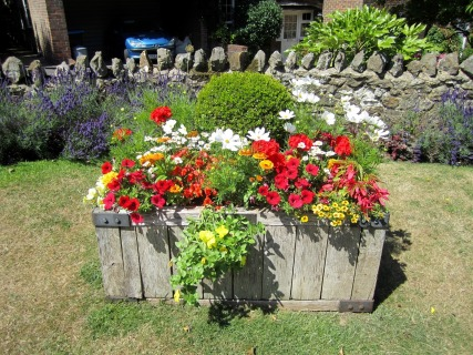 Limpsfield in Bloom horse trough