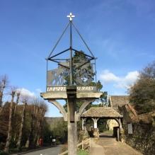 Limpsfield Village sign