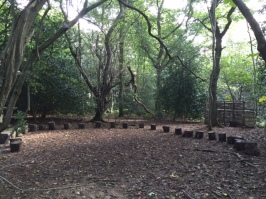 Outdoor classroom by Limpsfield CofE Infants School.