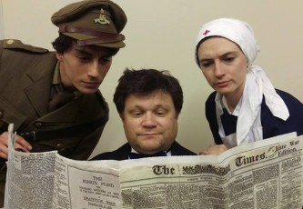From Left: Threadbare Theatre Actors, Matthew Winters, Andrew Candish and Felicity Jolly.