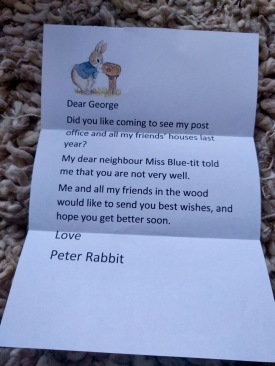 Letter from Peter Rabbit to George